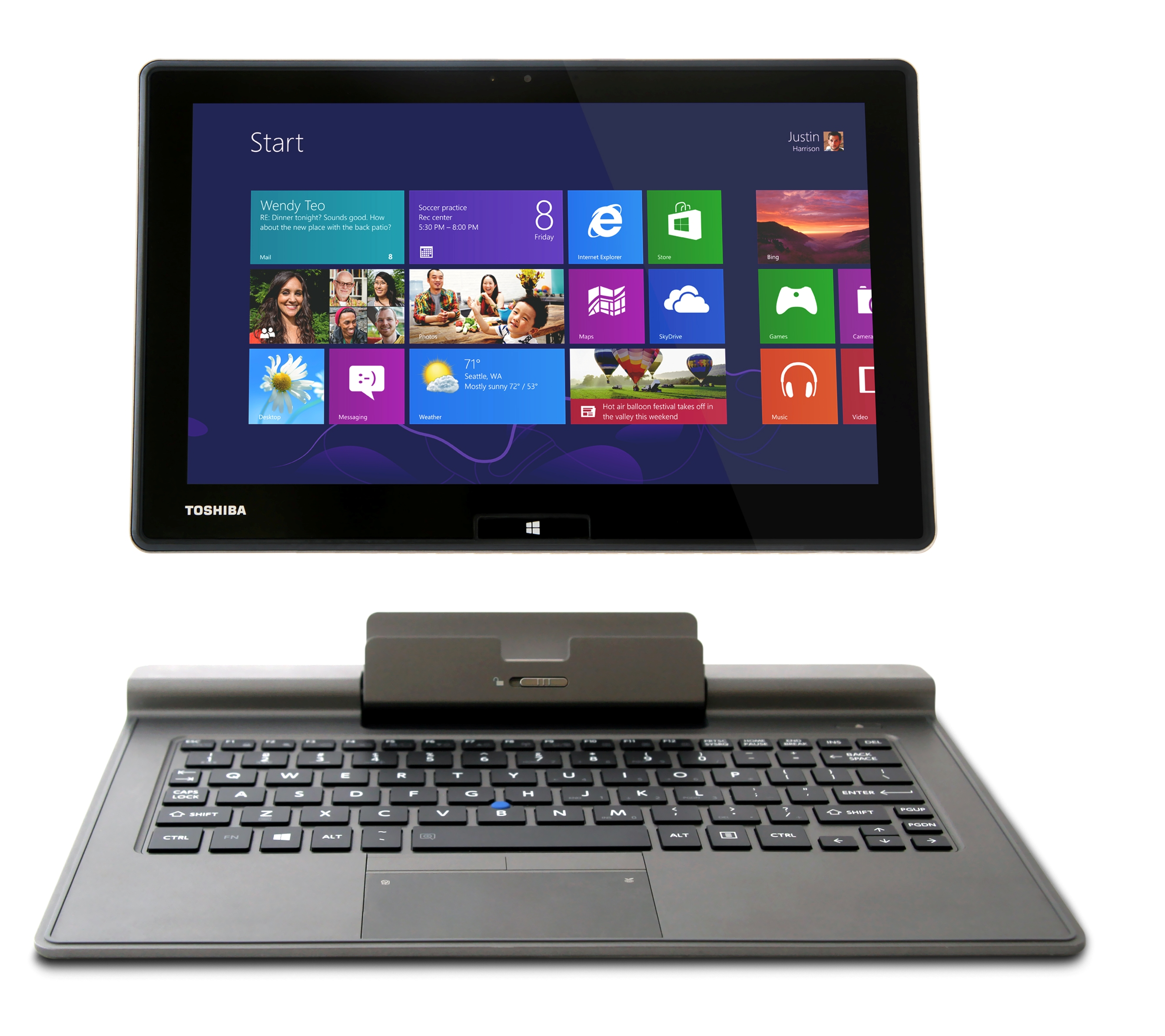 Toshiba Port 233 G 233 Z10t Hybrid Tablet Pc