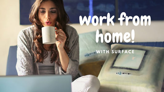 Our team works from home