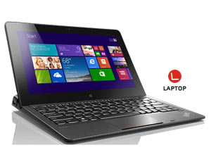 Lenovo ThinkPad Helix - M-5Y10, 4GB, 128GB SSD, Win 8.1, TOUCH ONLY